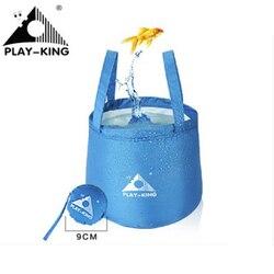 PLAYKING Outdoor Travel składana składana umywalka kempingowa wiadro miska wodoodporna PEVA worek do prania nylonowe wiadro na wodę w Zewnętrzne narzędzia od Sport i rozrywka na