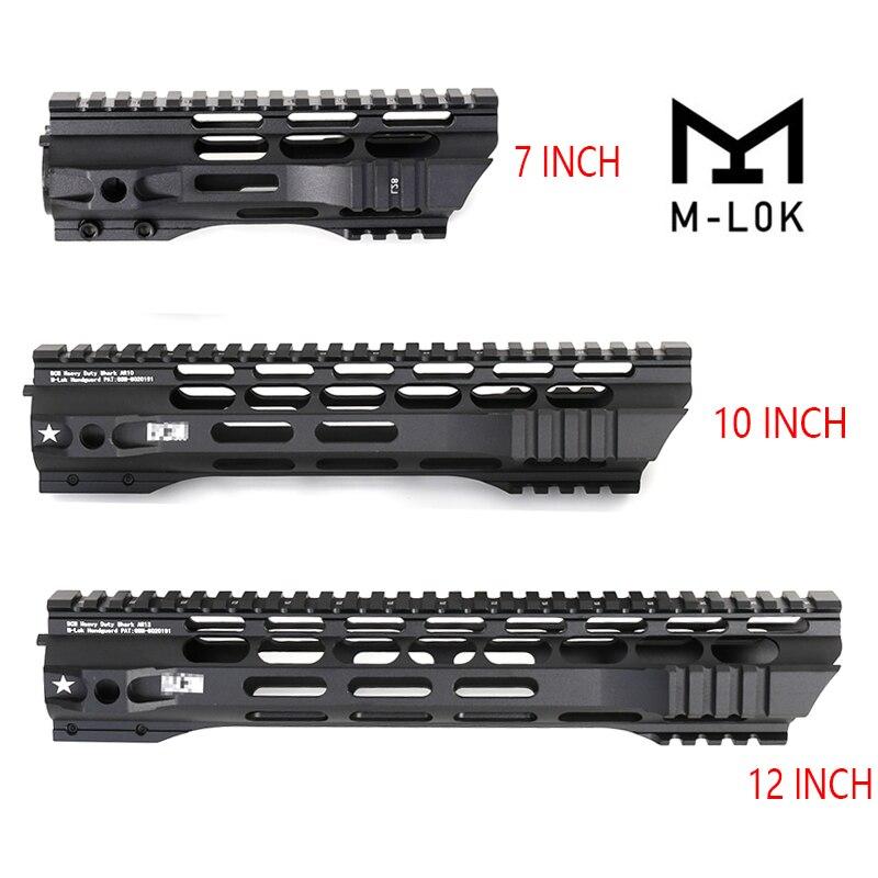 7 10 12 Inch AEG M4 M16 AR15 Free Float M-Lock Quad Rail Handguard Picatinny Rail With Aluminiu Barrel Nut For Hunting Shooting