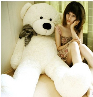 120cm baby toy birthday gifts Christmas plush doll three colors big teddy bear skin coat toys