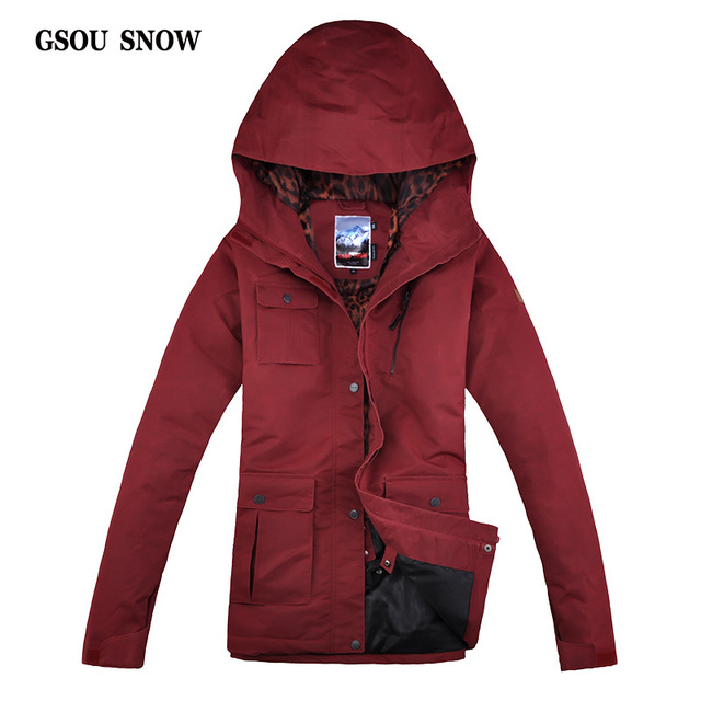 GSOU SNOW NEW Female Ski Jacket Outdoor Breathable Waterproof Windproof  Jacket Women s Snowboard Jacket Winter Thermal 1083d8793