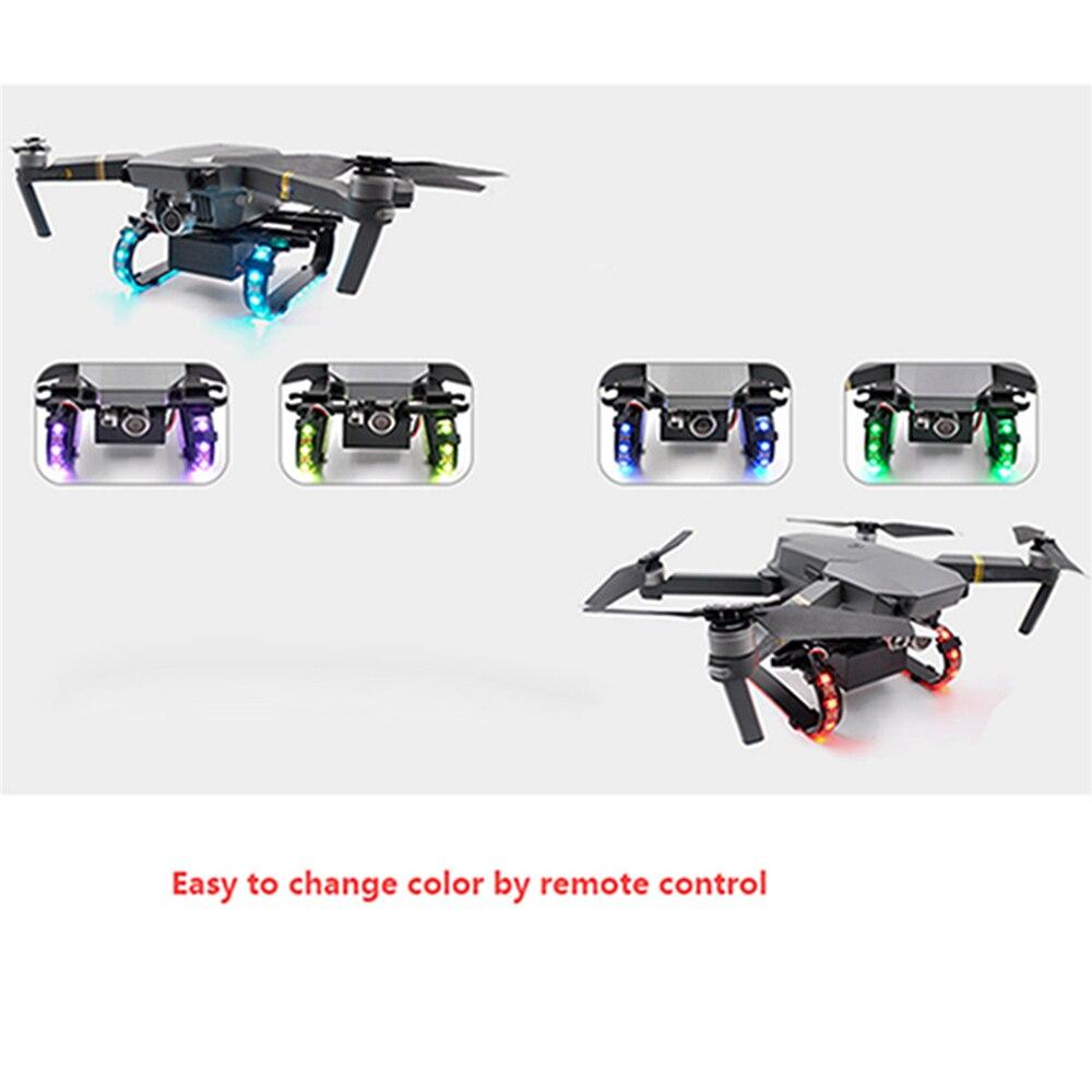 Train d'atterrissage étendu coloré de LED pour la pièce de rechange de Drone d'accessoires de Drone de DJI Mavic Pro/Platinum