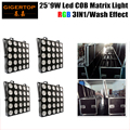 Freeshipping 4IN1 Кейс Пакет 25x9 W RGB 3IN1 Led Этап Матрица Света 84/75/30/6 каналов DMX 1 Года Гарантии Китай Led Этап