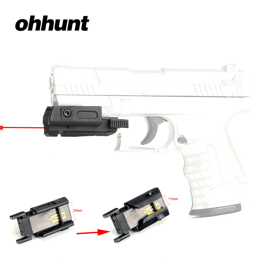 ohhunt Hunting Red Dot Laser Pointer Red Laser Sight with Picatinny to Dovetail Rail Mount for Tactical Riflescope Glock Pistol