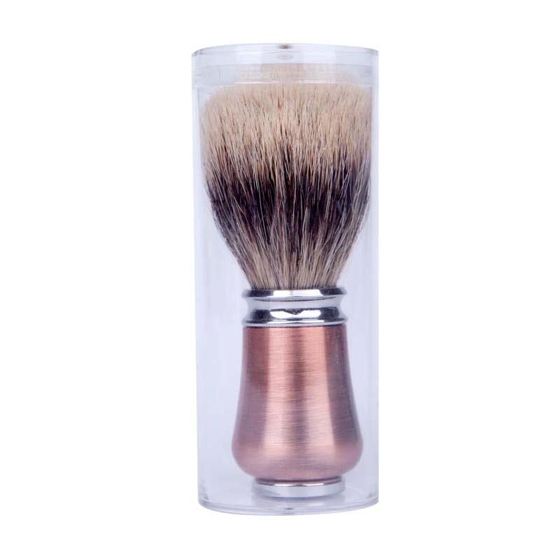 bronze de metal lidar com rosto barba 05