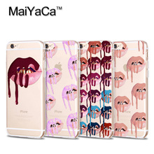 MaiYaCa phone cases Graffiti Girl Kylie Lips Soft Transparent TPU Phone Case Accessories Cover For iPhone4s5c 5s 6s 7 plus case