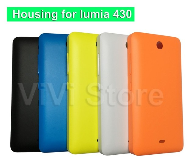 separation shoes a1574 9d68d US $2.54 15% OFF|Less But Better New Back Cover for Microsoft lumia 430  Battery Cover Housing Door Phone Case for Nokia lumia 430 with side key-in  ...