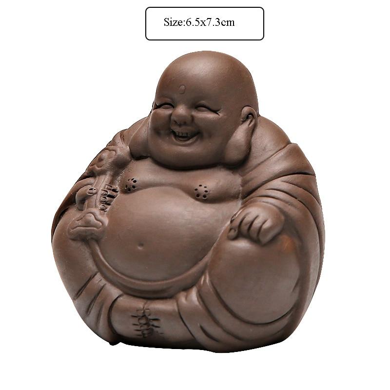 2pcs//lot creative tea pet monk on sales yixing zisha ornament chinese tea play