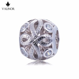 Image 1 - Video! Chinese knot 925 Sterling Silver beads charms fit Bracelets Never change color DDBJ103