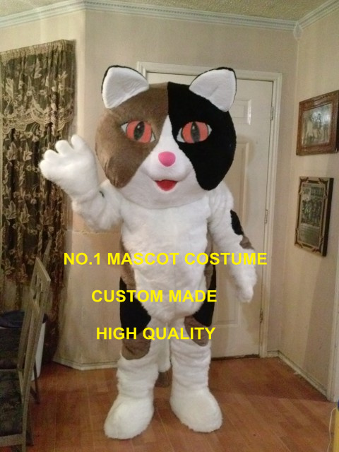 Fantaisie mascotte chat mascotte costume adulte dessin animé personnage chat thème anime cosplay costumes carnaval mascotte fantaisie robe costume 1771