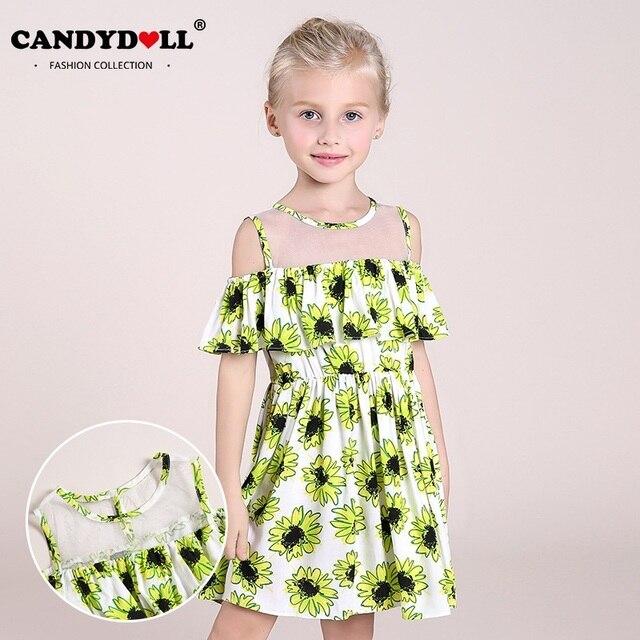 Flowermodels Candy Dolls Illusion: Candydoll Girls Summer Dress 2018 New Kids Sleeveless