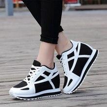 High Heels Wedge Shoes For Women White Casual Tenis Feminino Platform Basket Femme 2016 Girl Krasovki Small Size Gumshoe YS X105