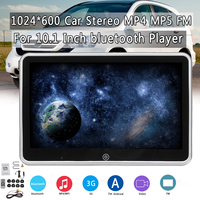 10.1inch Headrest DVD Monitors 1024x600 HD input Radio AV Monitor car audio DVD Player IPS Multi Touch Screen Support FM Speaker