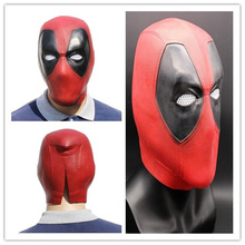 цены на Masks Halloween Party Performance Funny Movie Deadpool Short Paragraph Latex Headgear Cosplay Bar party Latex caps Deadpool