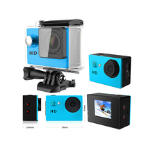"Freeshipping 1080p Full HD Action Camera A8 With HD 2.0"" Dual Screen Mini Video Cam 30M Waterproof 120D Lens Cheap Sport Camera"