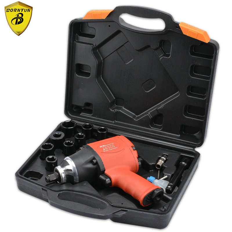 Borntun 1/2 Double-hammer Pneumatic Air Impact Wrench Industrial 2-hammer 12.7mm Car Tyre Repairing Maintenance Pneumatic Tools
