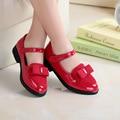2016 Nuevo Talón Plano de Lentejuelas pajarita Niños zapatos de la Muchacha moda Muchacha de Los Niños princesa Shoes resbalón de Los Niños Vestido de Las Muchachas zapatos