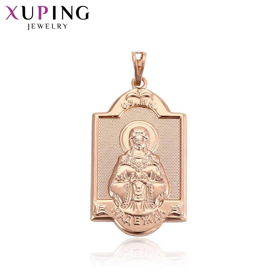 11,11 сделок Xuping Мода атмосферу Религия кулон из розового золота Цвет для Для женщин боксерские день подарок ювелирные изделия S68, 1-32957