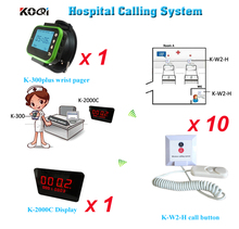 цена на Nurse call system price with 10pcs Hospital Call Button Emergency Nurse Call Bell LED Panel  Watch String pull nurse call system