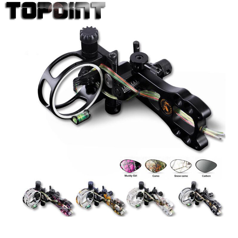 Topoint Archery 5 pin Arc View TP6550 Basic Arc Sights No Light Sight 5 Colors Can