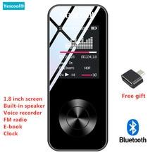 Yescool X2 1,8 дюймов MP3-плеер Bluetooth без потерь hifi музыкальный плеер динамик электронная книга FM радио Диктофон мини Спорт walkman