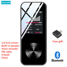 Yescool X2 1.8 Inch MP3 player Bluetooth lossless hifi music player speaker E-book FM radio voice recorder Mini sports walkman new ultrathin mp3 music player 4gb storage 1 8 inch screen can play 80hours original ruizu x02 with fm e book voice recorder