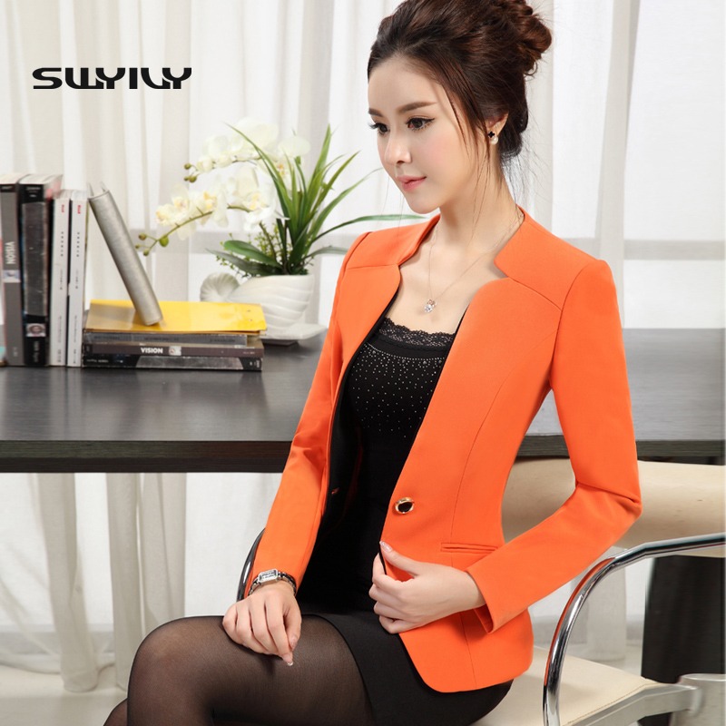 Plus Size 3XL 4XL Blazer Female 2017 Spring And Autumn Suit Jacket Formal Women Blazer Ladies Jacket Slim Candy Color