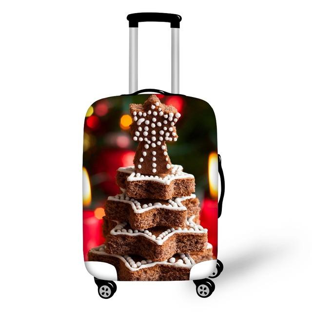 FORUDESIGNS Feliz Natal Estilo Caixas de Tecido de Poliéster Para O Saco De Viagem Leve E Reutilizável Tampa Usado 18-28 polegada Caso Compacto