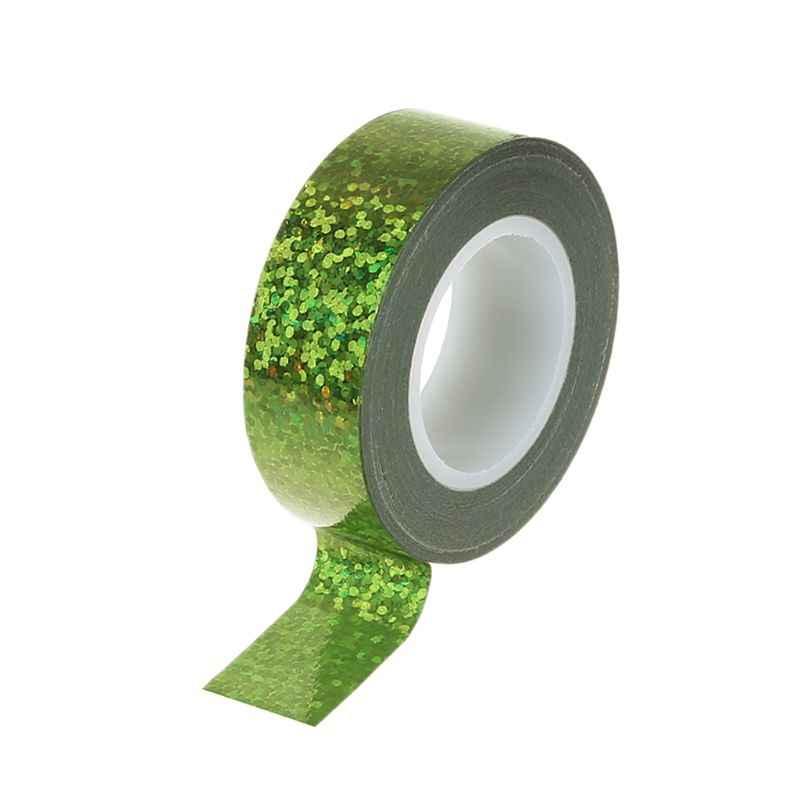 התעמלות אומנותית קישוט הולוגרפי גליטר קלטת טבעת מקל אבזר