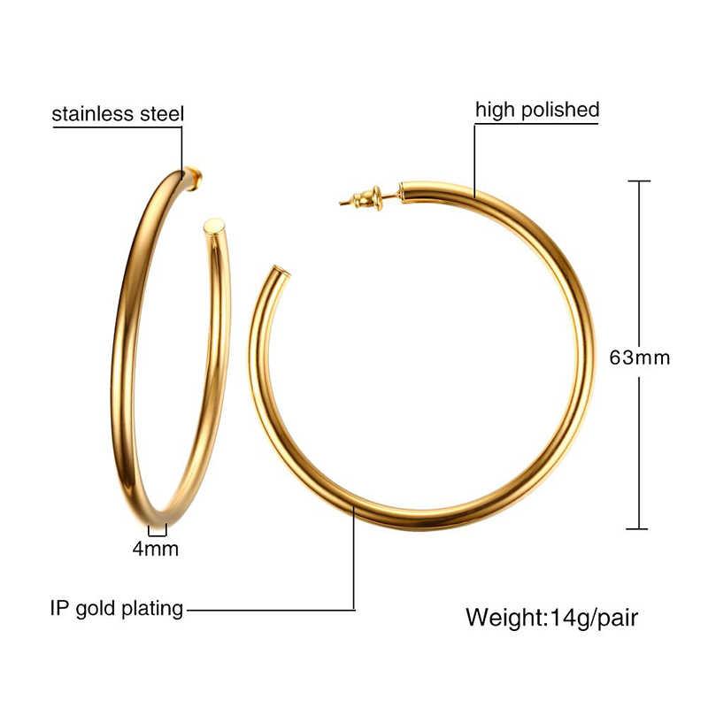 Meaeguet คลาสสิกเปิดรอบต่างหูสตั๊ด Brincos สำหรับผู้หญิงเครื่องประดับ Big Abaggeration สแตนเลสหู Bijoux