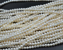 AA+ wholesale 10 strands small 5.5-6mm white freshwater pearl