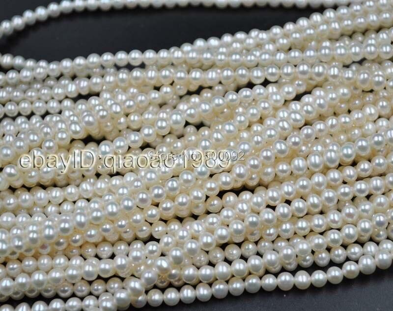 AA + velkoobchod 10 pramenů malá 5,5-6mm bílá sladkovodní perla