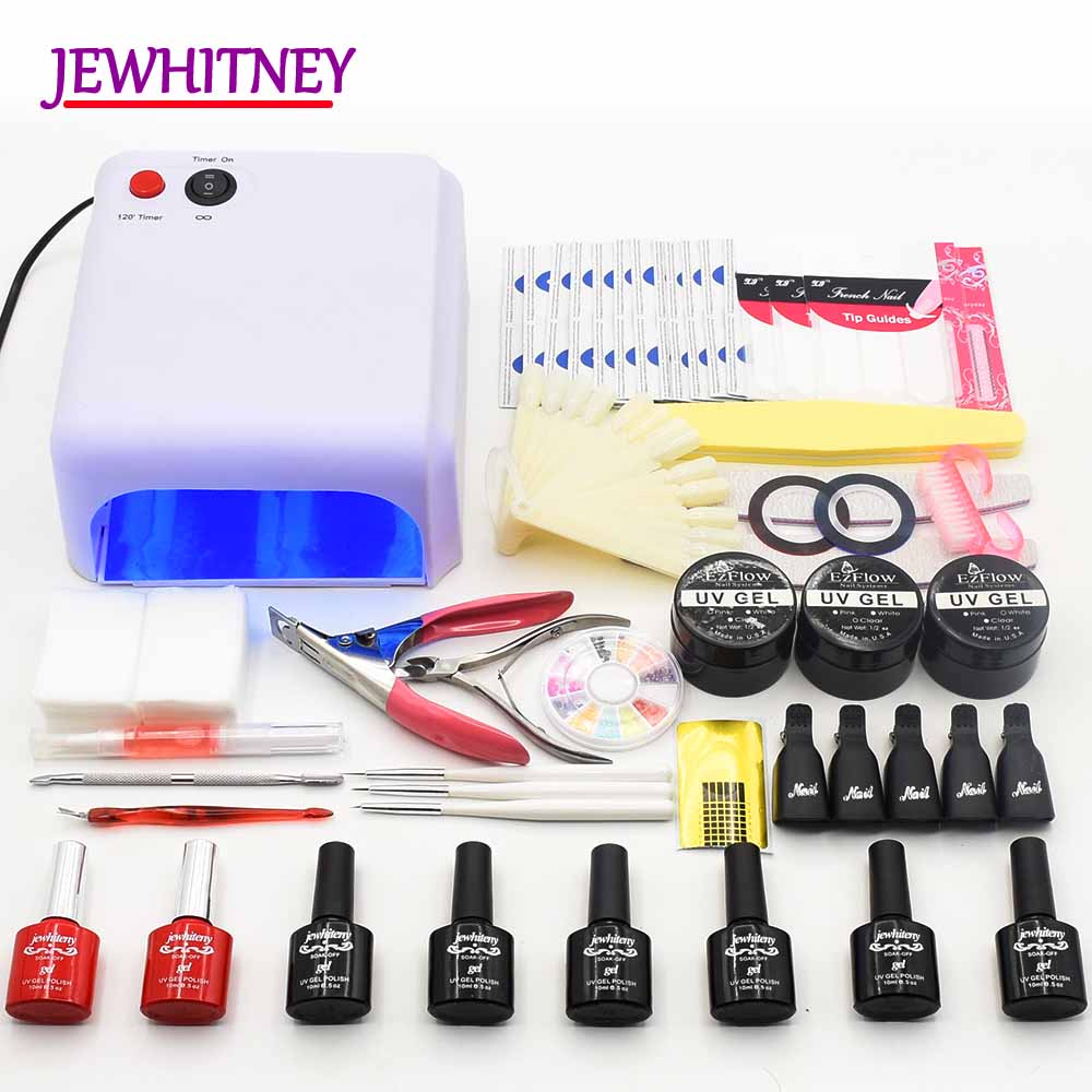 36W UV LED Nail Lamp Manicure Sets Nail gel polish nail Kit UV Extension Gel Kit Gel Varnish Nail Art Manicure Tools Sets