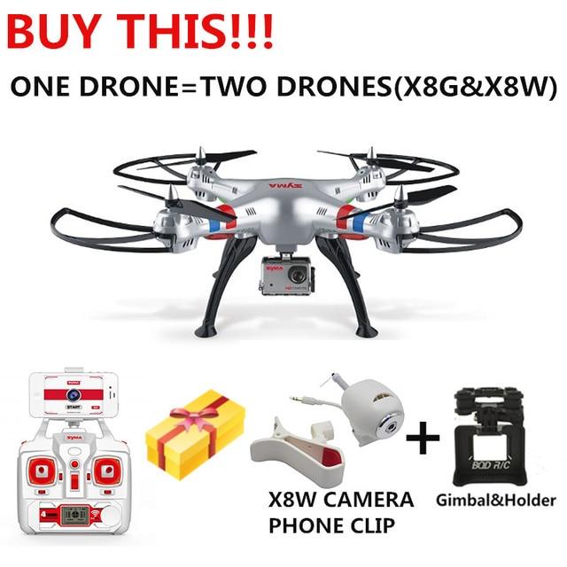 Syma X8g Big Rc Quadcopter Drone Mit 8mp Hd Kamera Und X8W WIFI KAMERA ALS GESCHENK
