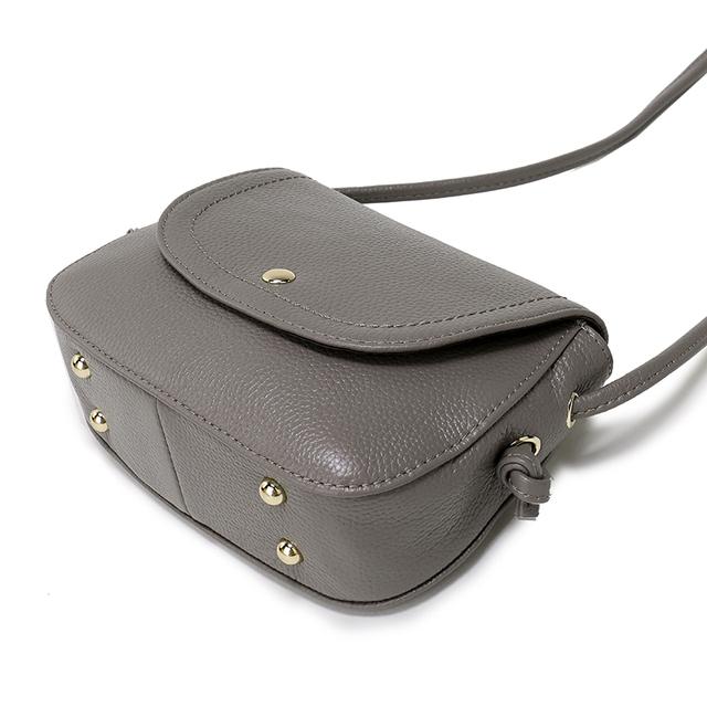 Nuleez Genuine Leather Saddle Bag Real Leather Women Small Bag Summer Sling Bag For Girls Crossbody Messenger Bags Female 2031