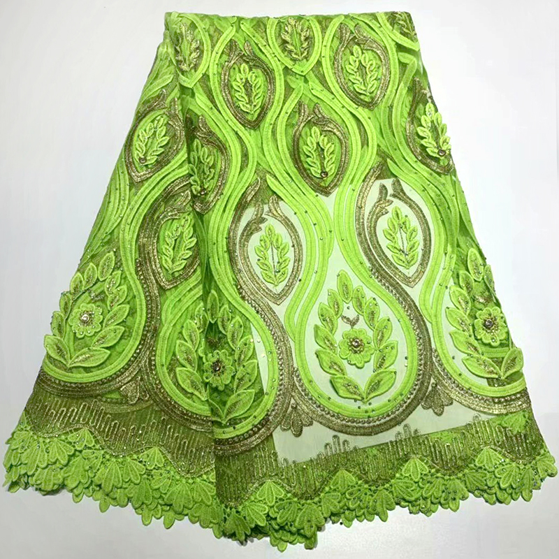Nice african french guipure cord lace fabric embroidery lace fabric african lace fabric 2019 high quality lace with beadsNice african french guipure cord lace fabric embroidery lace fabric african lace fabric 2019 high quality lace with beads