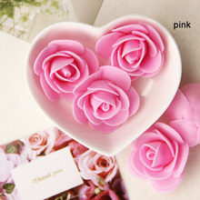 30pcs Mini PE Foam Artificial Rose Flowers For Wedding Car Decoration DIY Wreath Decorative Valentine Day Fake Flowers