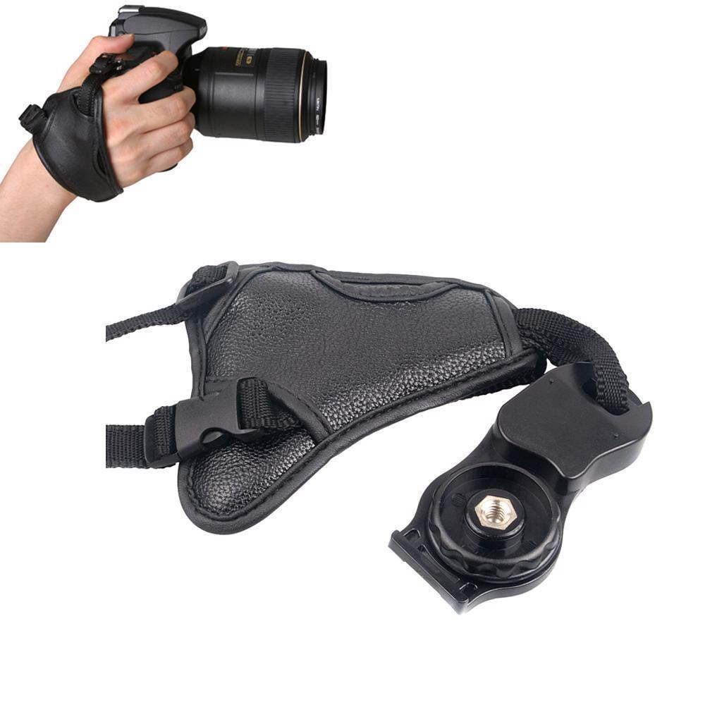 DSLR камера искусственная кожа ручка Быстрый ремешок мягкая ручка сумка для камеры Универсальный для Canon Nikon Sony Olympus черный