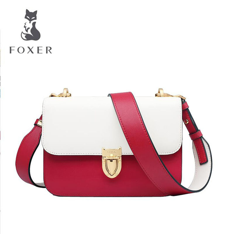 Cow leather handbag  Fashion bag female 2019 new contrast color simple shoulder slung small square bagCow leather handbag  Fashion bag female 2019 new contrast color simple shoulder slung small square bag