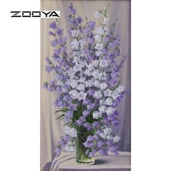 Zooya Elmas Boyama Tam Elmas Nakış çiçek Desen Rhinestones Dekor