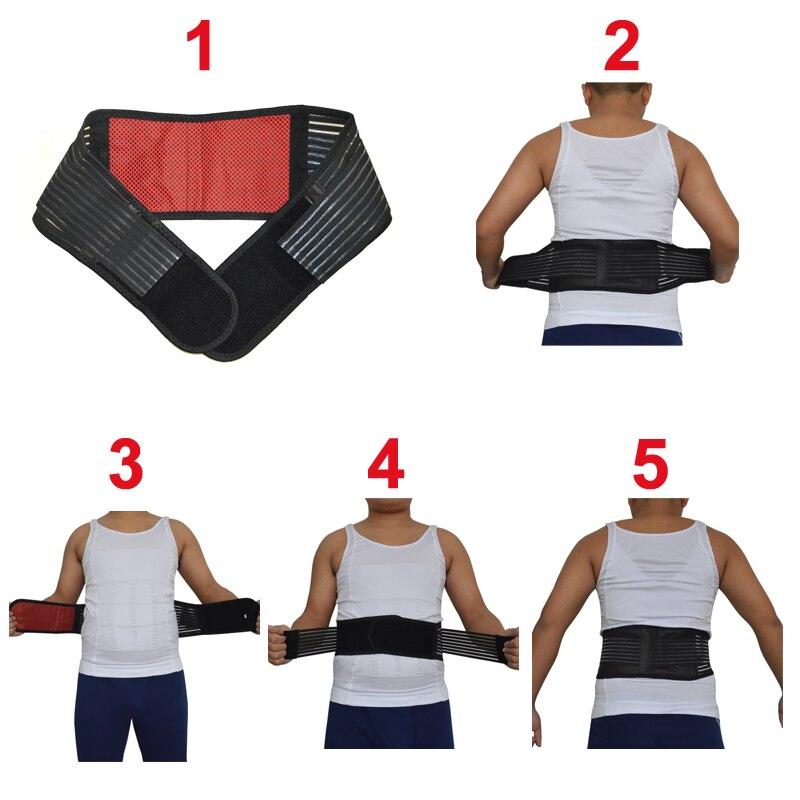 Adjustable Tourmaline Self-heating Magnetic Therapy Waist Lumbar Support Belt Training Back Orthopedic Posture Corrector Corsets