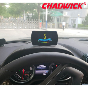 Image 2 - OBD Hud Head Up Display Digital Car Speed Projector On Board Computer OBD2 Speedometer Windshield Projetor CHADWICK P12 5.8 TFT