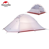 DHL Free Shipping Brand NatureHike 2 Person Tent 20D Silicone Fabric Ultralight Tent Double Layer Outdoor