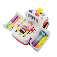 Children Ambulance Doctor Vehicle Car With Lights And Music Plastic Simulation Toys Ambulance Car Electric Pretend