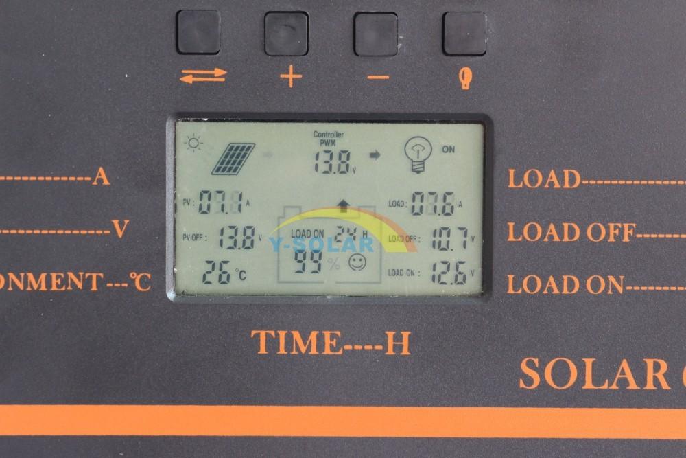 60А солнечный регулятор жк-дисплей pv панели батареи контроллер заряда 12 № 24 в солнечная система главная внутреннего использования 5 в usb заряда контроллер
