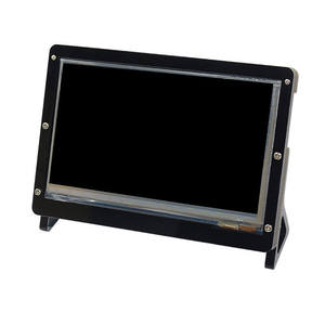 Image 1 - Elecrow 7 Inch LCD Case Raspberry Pi Display Monitor Support Holder Acrylic Housing Bracket for Raspberry pi 3 7 inch LCD Black