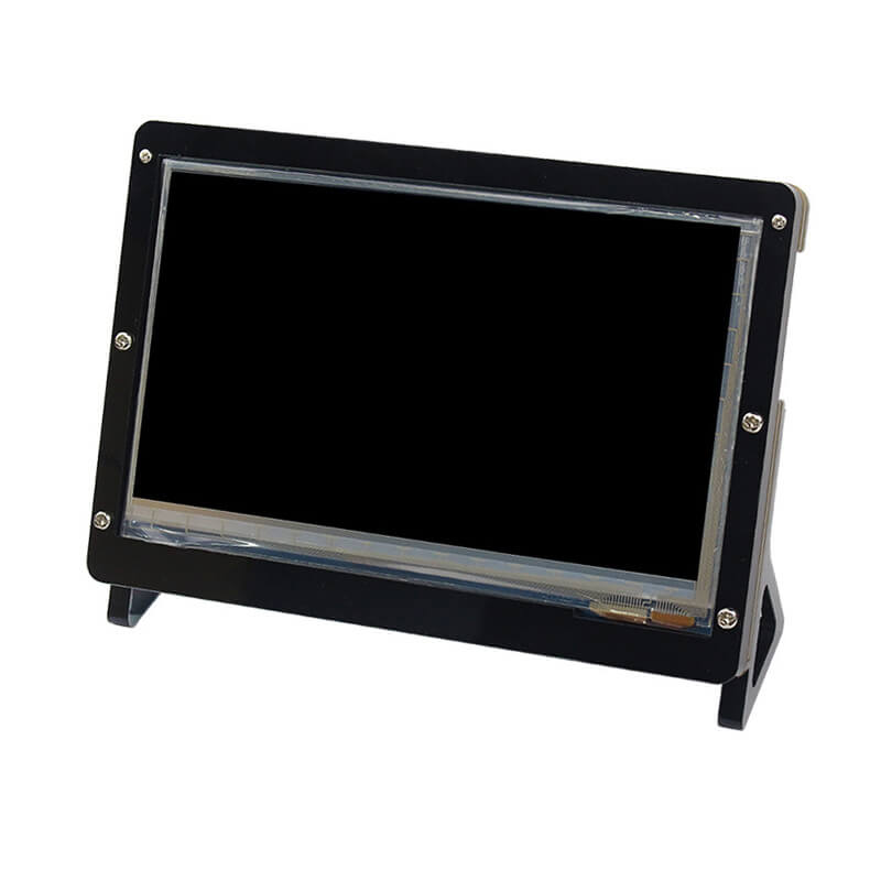 Elecrow <font><b>7</b></font> <font><b>Inch</b></font> <font><b>LCD</b></font> Case Raspberry Pi Display Monitor Support Holder Acrylic Housing Bracket for Raspberry pi 3 <font><b>7</b></font> <font><b>inch</b></font> <font><b>LCD</b></font> Black image