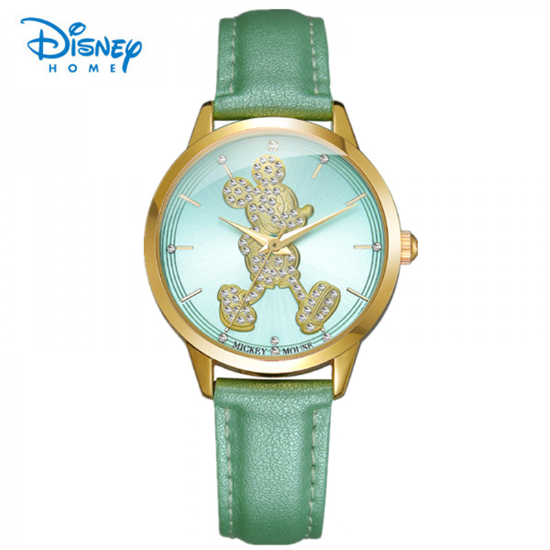 100% Genuine Casual Disney Fashion wristwatches quartz watch women rhinestone dress watches mickey watch kids watch