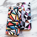 Fashion Art Colorful Triangle Case For iphone 7 Case Funny Abstract Geometric Graphic Back Cover Phone Cases For iphone7 7 Plus