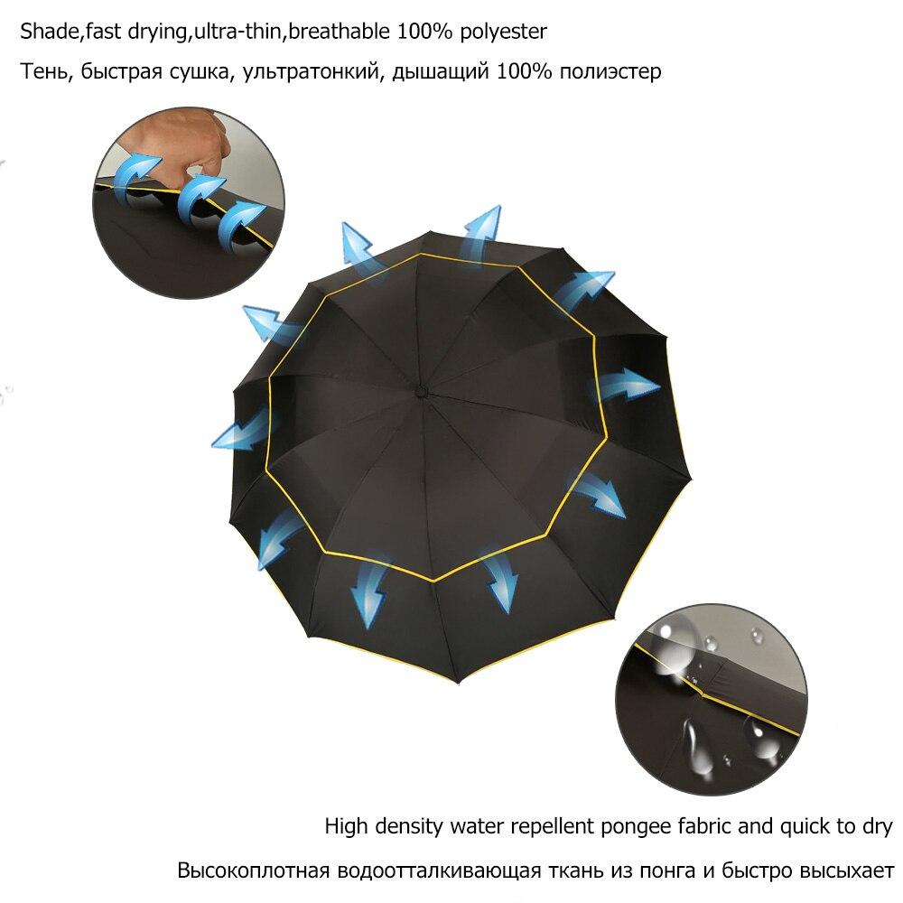 130cm grote top kwaliteit paraplu heren regen vrouw winddicht grote - Huishouden - Foto 3