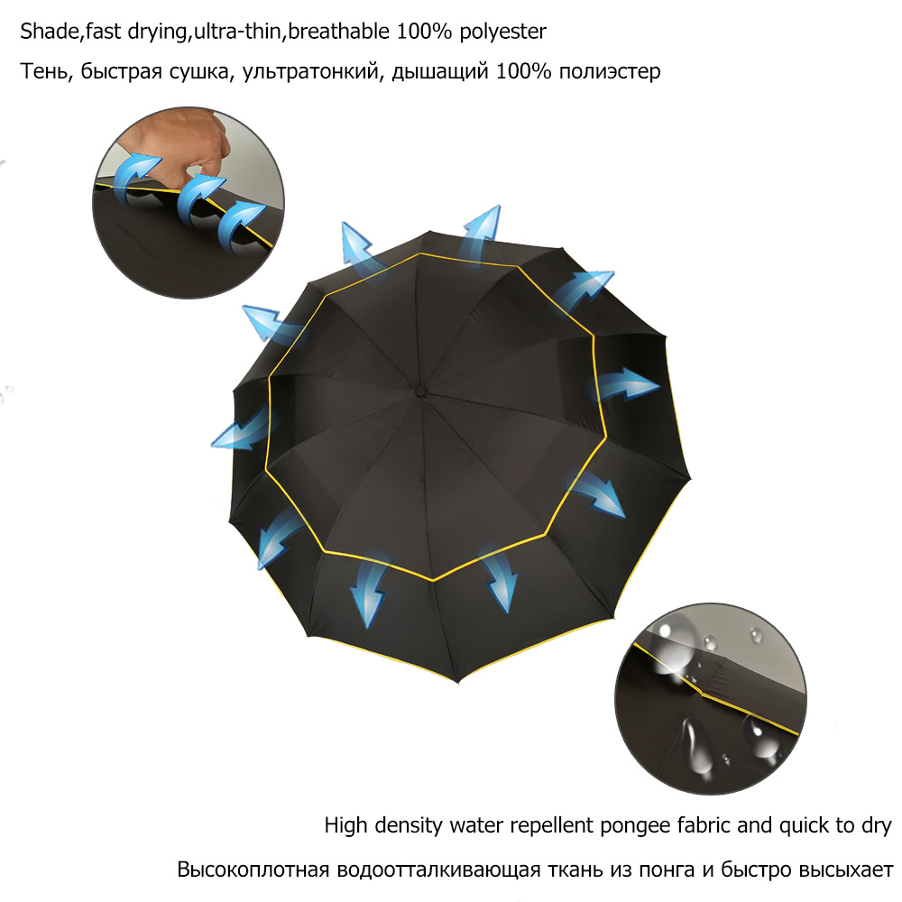 130 cm Große Top Qualität Regenschirm Männer Regen Frau Winddicht - Haushaltswaren - Foto 3